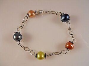 Sterling-Silver-Dyeing-Multi-Color-Fresh-Water-Pearl-Bracelet