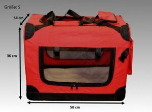 Faltbare-Hundebox-Hundetransportbox-Hunde-Katzen-Katzentransportbox-Rot-034-S-034