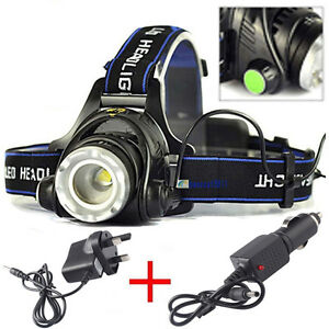 ZOOM-10000LM-CREE-XM-L-XML-T6-LED-18650-Headlamp-Headlight-Lamp-Light-Chargers