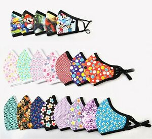 Ladies-amp-Kids-Cotton-Face-Mask-Washable-Adjustable-Double-Layer-Girls-Covering
