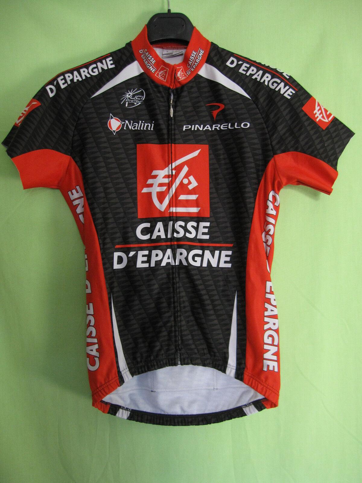 Maillot Cycliste Porté Sébastien PORTAL Caisse D'épargne 2007 Nalini - 2   S