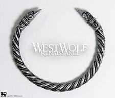 Silver Viking Raven Bracelet/Torc/Torque -- Norse/Medieval/Jewelry/Ragnar/Skyrim
