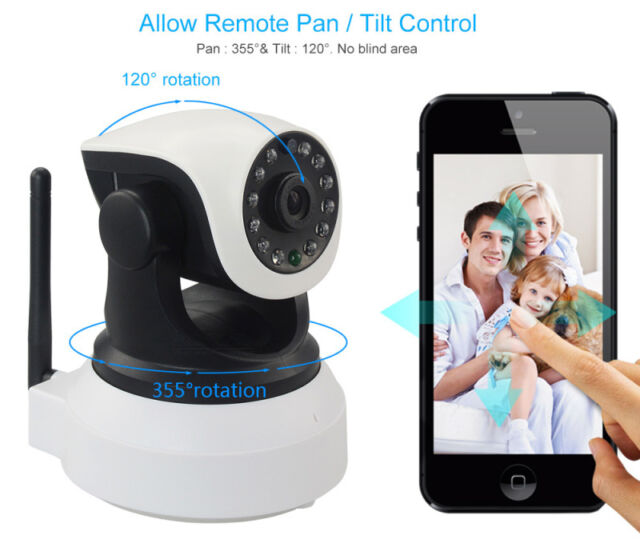 P2P HD 720p Wifi IP Camera Night Vision IR Cut Video 2-Way Voice Talking Monitor