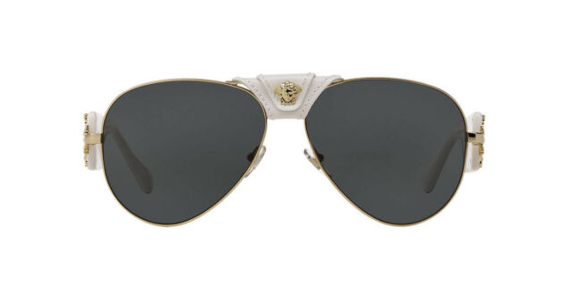 2cabcb7428a2 Versace 0VE2150Q Medusa Women s Pilot Sunglasses - White Grey for ...