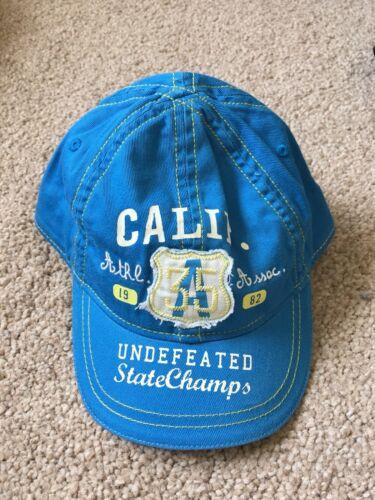 0-6 meses de edad Brillante Azul//California niños Gorra De Béisbol//Pico BNWOT junto