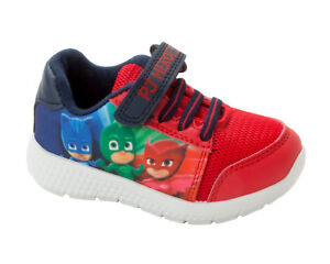 *SALE* BOYS NEW PJ MASKS TOUCH FASTENING TRAINERS PUMPS SHOES SIZE 5-10