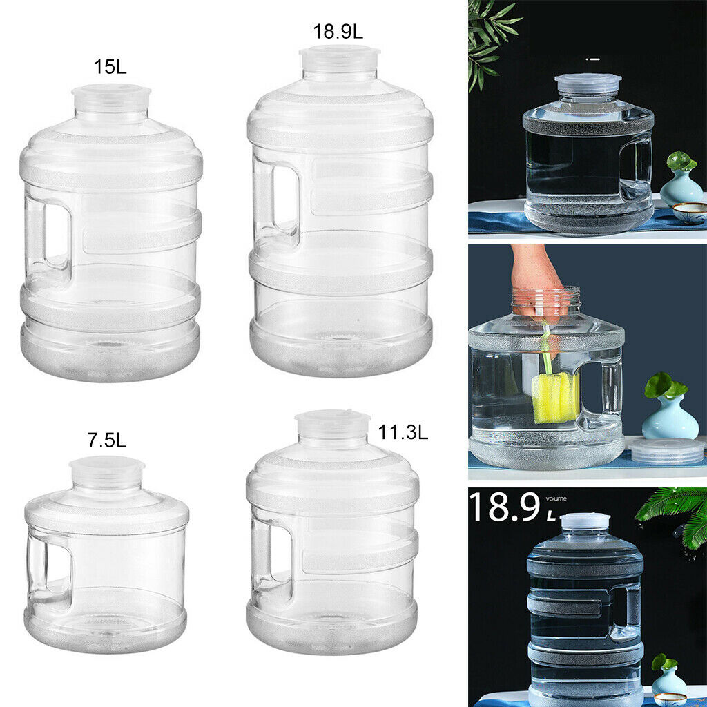 Portable Large Water Bottle Tank Container Jug with Handle Camping Picnic