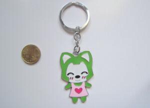 Llavero-esmaltado-anime-ratoncita-verde-10-5-cm-acero-inoxidable-bisuteria