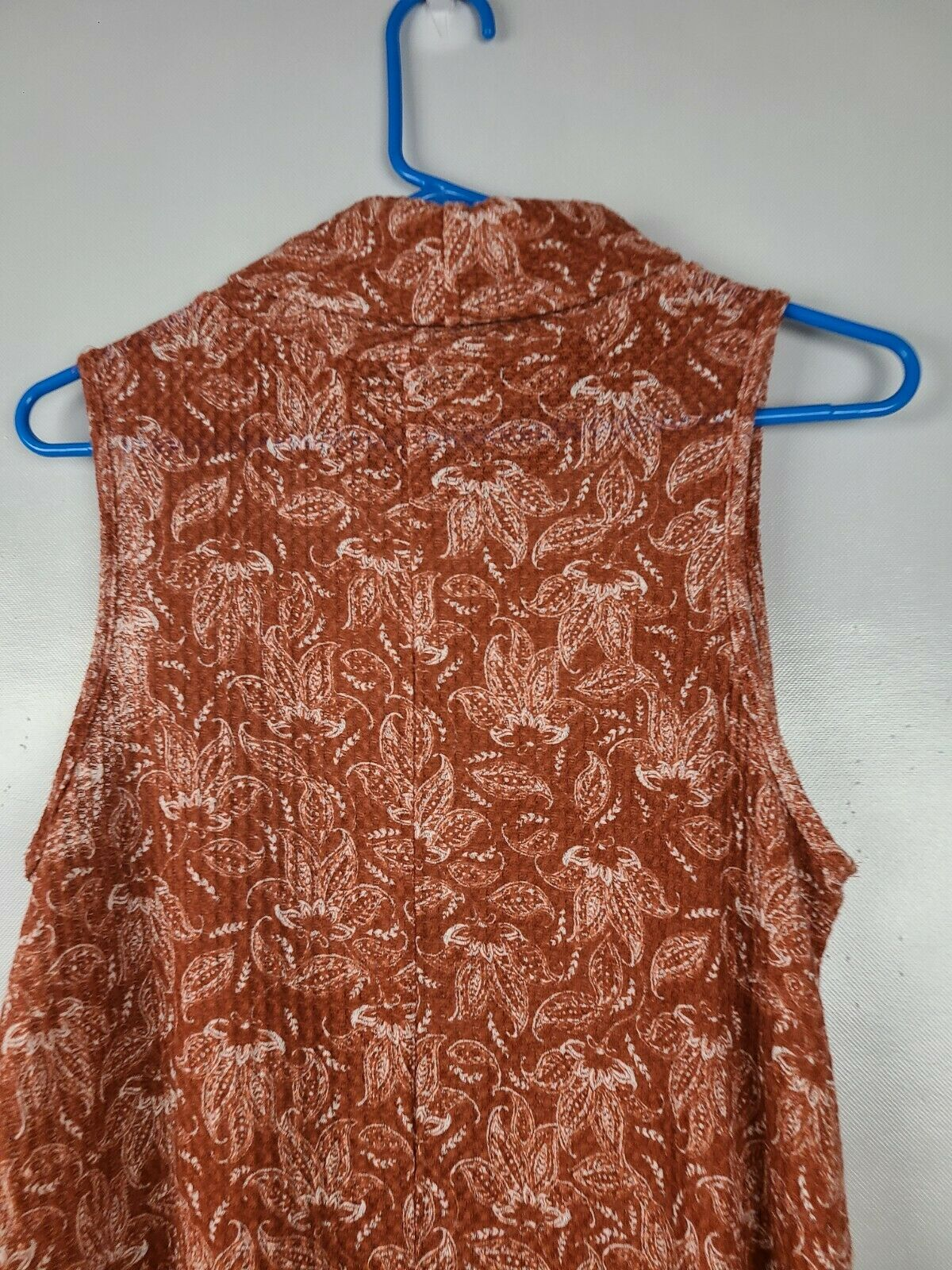 Sweet Claire Womens Top Size Small Brown White Fl… - image 4