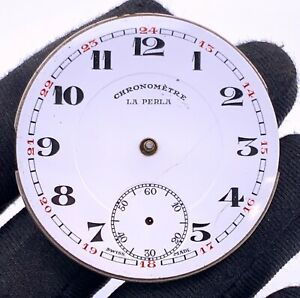 Chronometre-Corgemomt-Montre-la-Perles-Manuel-Vintage-41-mm-Pas-Marche-For-Parts