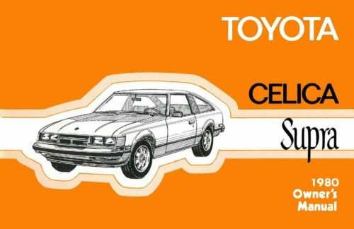 Bishko OEM Maintenance Owner/'s Manual Bound for Toyota Celica Supra 1980
