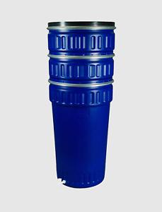 Regentonne Weithalsfass 220l  Regenfass  Weithalstonne Kunststoffbehälter blau