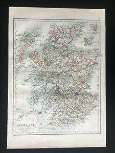 Antique-Map-Of-Scotland-1892