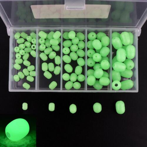 100pcs Oval Soft Luminous Glow Fishing Beads Sea Fishing Lure Float Tackles Tool