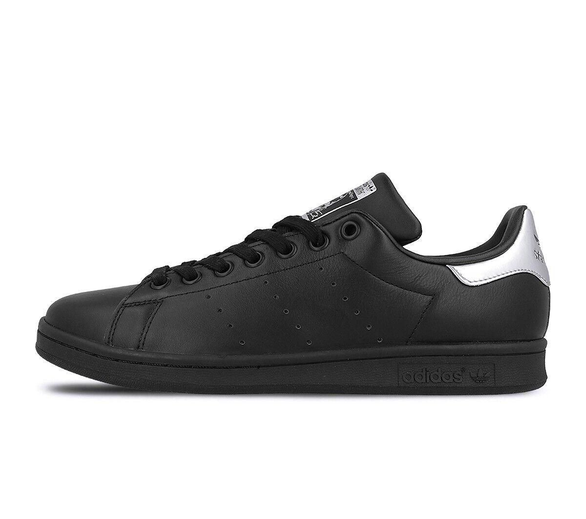 NEU ADIDAS WOMEN'S ORIGINALS STAN SMITH Schuhe   BLACK//BLACK-MTLC SILVER