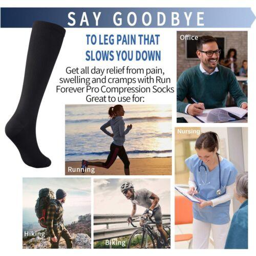 Compression Socks for Women /& Men 15-20mmHg For Medical Running Nursing Hiking