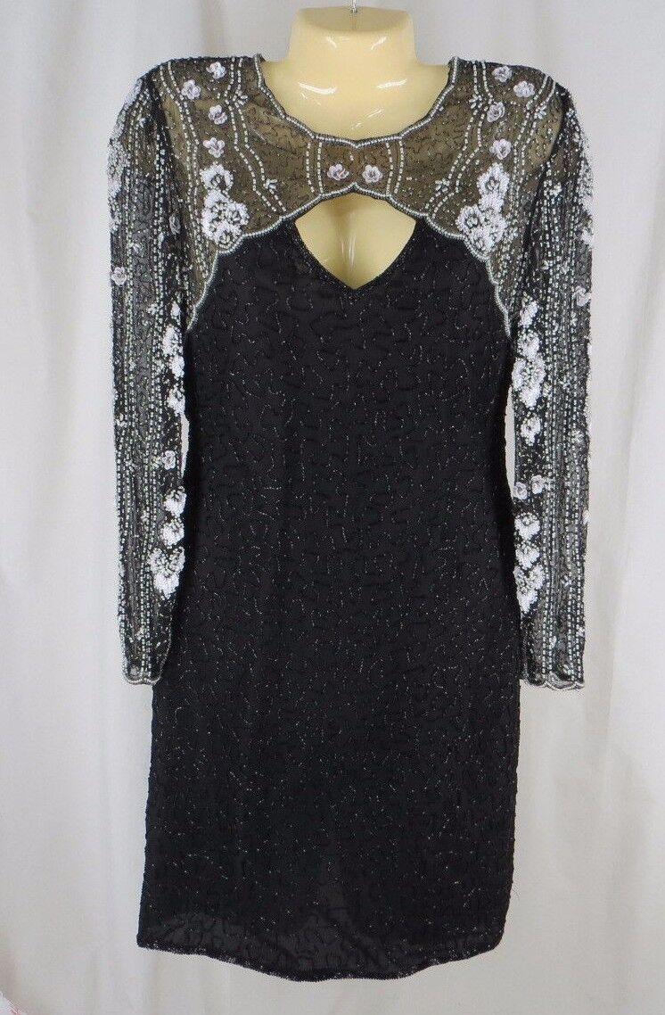 S Laurence Kazar Nautical Sailor Deadstock Sequin Party Dress Vintage