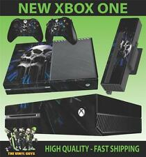XBOX ONE CONSOLE STICKER TIME OF DEATH SKULL CLOCK GOTHIC SKIN & 2 PAD SKINS