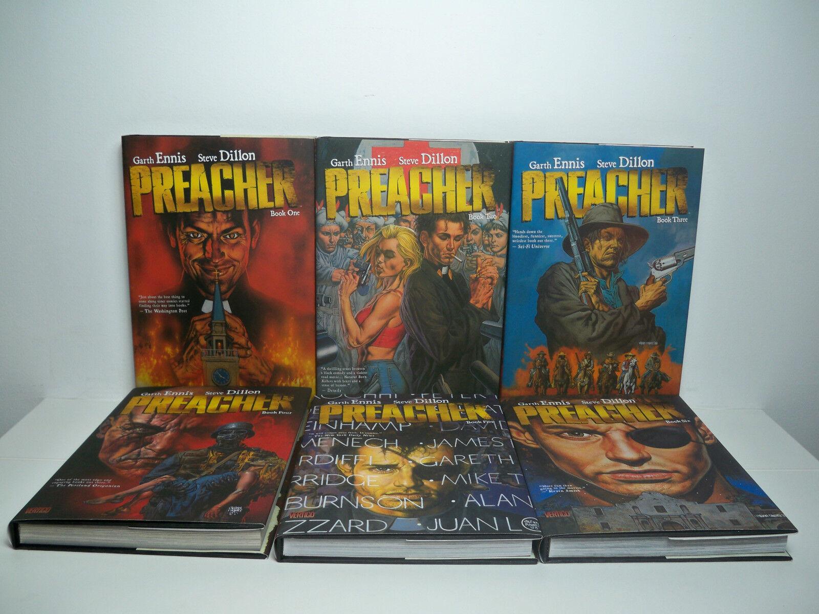 R0500053 PREACHER HARD COVER COMPLETE SET VOLUMES 1,2,3,4,5,6 NEAR MINT