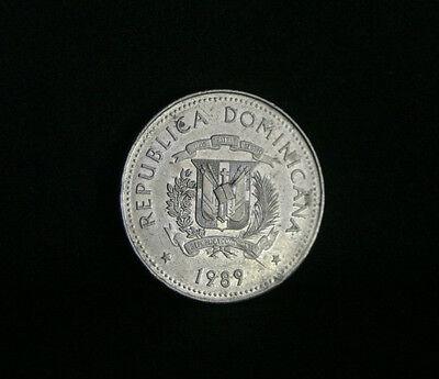 KM71.1 Dominican Republic 1991 25 Centavos Uncirculated