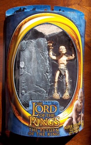 LOTR The Return of the King SUPER POSEABLE GOLLUM WITH CRAWLING ACTION Half Moon
