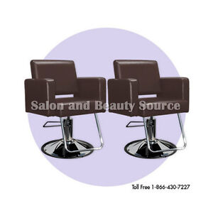 Brown styling chair chairs beauty salon equipment for Beauty salon furniture packages