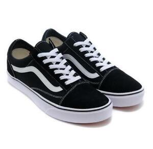 VAN-Old-School-Skate-Shoes-Black-Grey-Classic-Canvas-Sneaker-All-Size-UK3-UK9-5