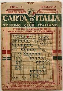 Carta-d-Italia-del-Touring-Club-italiano-Foglio-6-Belluno