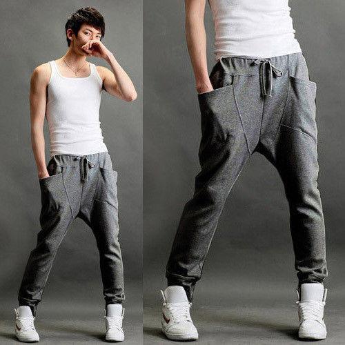 Men Women Dance Jogger Sportswear Slacks Baggy Hip Hop Cargo Chino Pant Trousers
