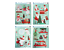 Xmas Decoration Decorate Glitter Festive Glitter Novelty Window Stickers