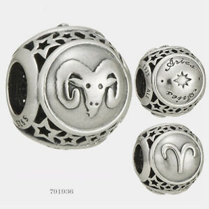 8b283084d NEW Authentic Pandora Sterling Silver Aries Star Sign Charm # 791936 ...