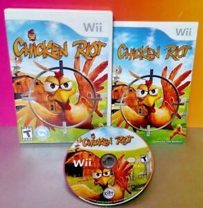 Chicken-Riot-Shooter-Nintendo-Wii-amp-Wii-U-Game-Rare-COMPLETE-Rare-1-2-players