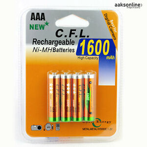 8x AA 3800 mAh NI-MH AKKU Wiederaufladbar Batterie Accu Rechargeable Mignon CFL