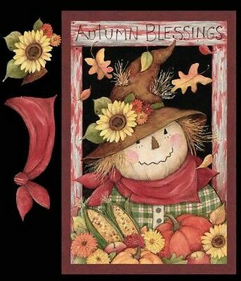 Springs Autumn Blessings 58732 Scarecrow Patchwork COTTON BTY