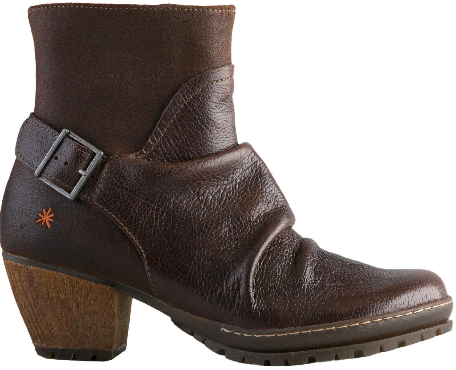 The Damenschuhe ART Company Schuhe 0516 Damenschuhe The Stiefelette Moka Gaucho Wax 875988