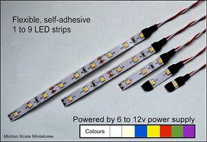 LED-OO-HO-QUALITY-9v-12v-DC-3528-LED-SUPAFLEX-LIGHTING-STRIP-MODEL-RAILWAY-GAUGE