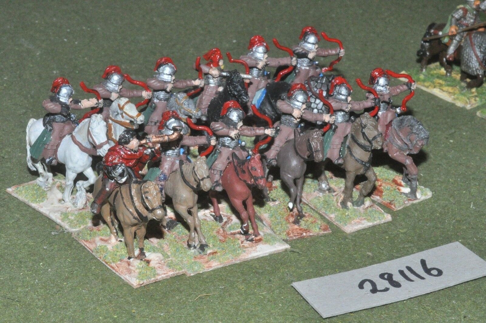 25mm dark ages   byzantine - horse archers 12 figures - cav (28116)
