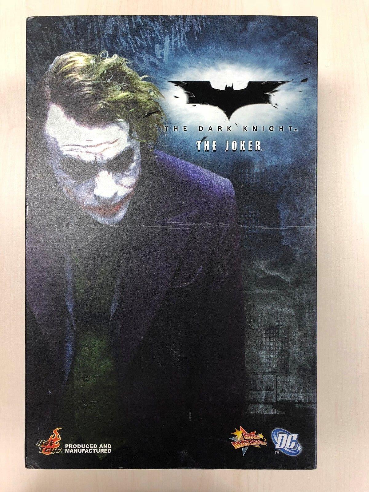 Hot Toys MMS 68 Batman Dark Knight TDK Joker Heath Ledger 12 inch Figure USED