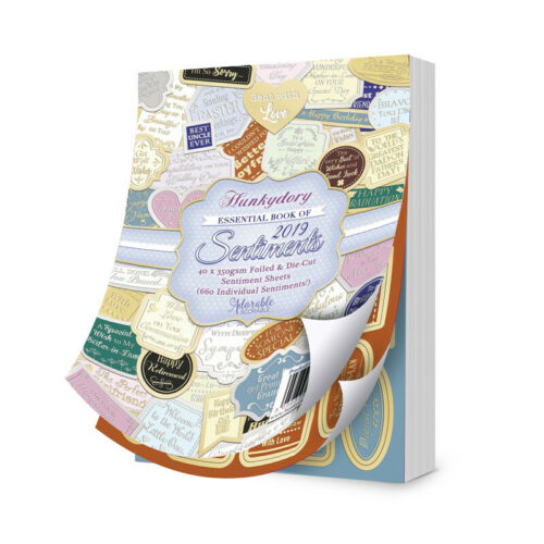 Hunkydory 40 Sheets 660 Sentiments! Essential Book of 2019 Sentiments