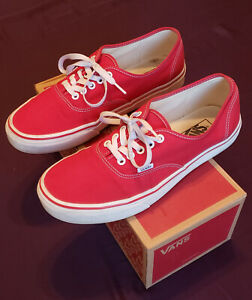 Vans Authentic Old Skool Era Red White Size 10 5 Visit Our Ebay Store Ebay