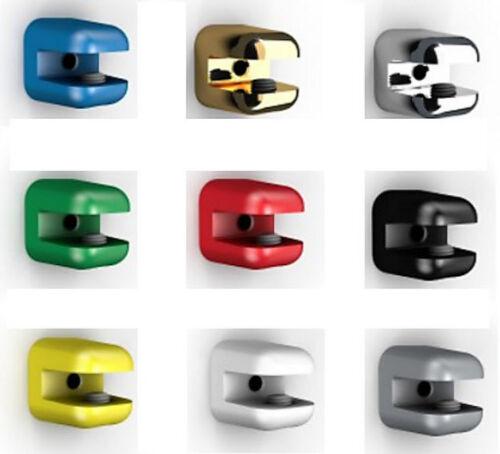 Glasregal Wandregal 50x12cm //8mm Klarglas o satiniert mit Clip REGGI in 9 Farben
