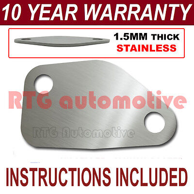 MITSUBISHI CANTER EASY FIT EGR EXHAUST VALVE BLANKING PLATE 1.5MM STAINLESS NC