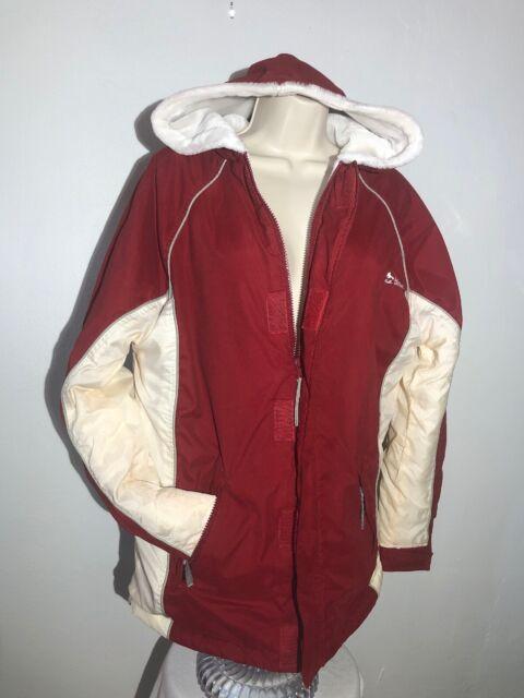Billabong Women's Jamie Anderson Red Winter Snowboard Ski Jacket L Zip Up Hoo