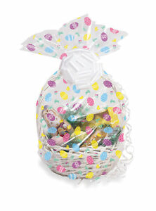 Easter eggs hamper wrap cellophane basket gift wrap large cello image is loading easter eggs hamper wrap cellophane basket gift wrap negle Gallery
