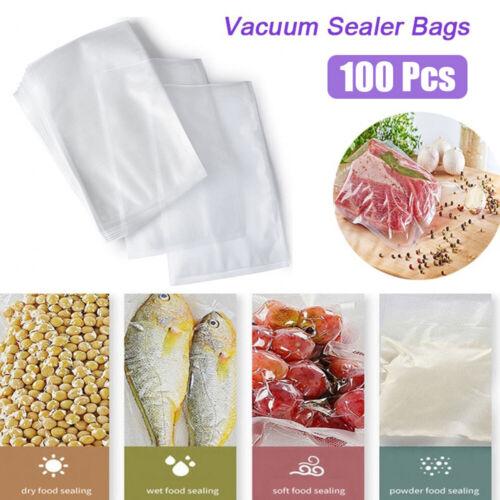 100pcs//pack Vacuum Food Sealer Bags Vacum Sealer Dry Wet Pack Machine//food Bags