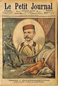 PORTRAIT-Peter-Jugoslawien-Peter-I-KING-of-Serbia-ANTIQUE-PRINT-1903