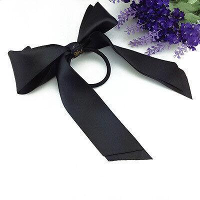 Women Ribbon Bow Hair Band Multicolor Scrunchie Hair Rope Ponytail Holder Satin