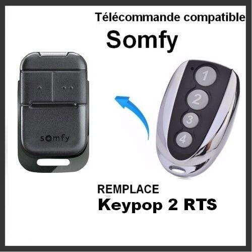 Télécommande compatible SOMFY KEYPOP 2 RTS