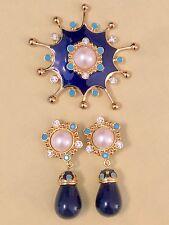 Jose Maria Barrera for Avon ROMAN HOLIDAY Pin & Clip Earring Set