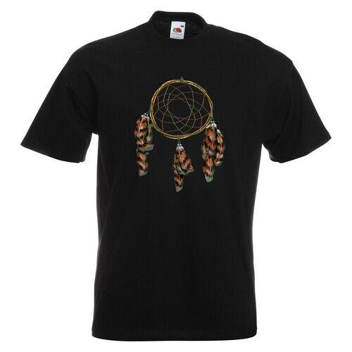 Dreamcatcher Homme T-shirt imprimé Dream Catcher Plumes Feather